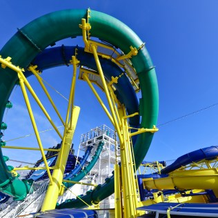 Norwegian cruises escape cruise ship waterslide