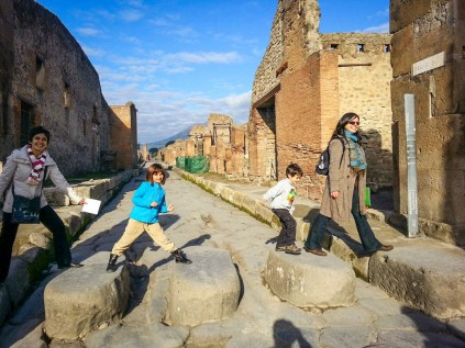 Royal Caribbean Cruise Lines European shore excursions for kids pompeii