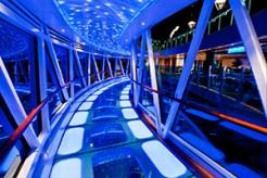 Princess Cruises Regal Princess glass walk night time