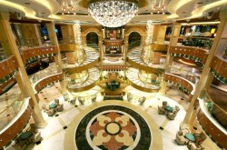Princess Cruises Regal Princess atrium marble