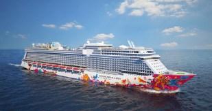 Dream Cruises Genting Dream cruise ship exterior starboard