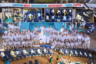 carnival cruise line magic towel people