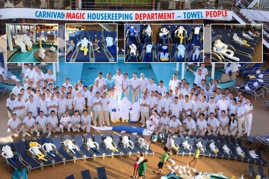 carnival cruise line magic towel people