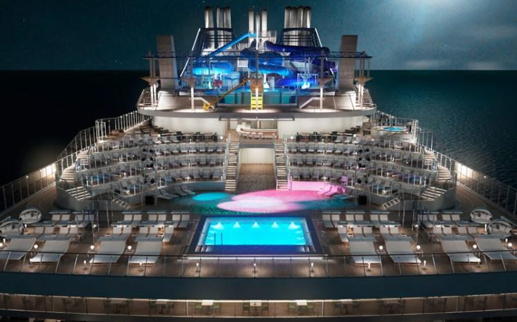msc meraviglia cruise ship stern