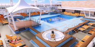 Dream Cruises Genting Dream cruise ship pool