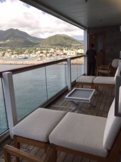 Viking Cruises Viking Star cruise ship balcony suite loungers