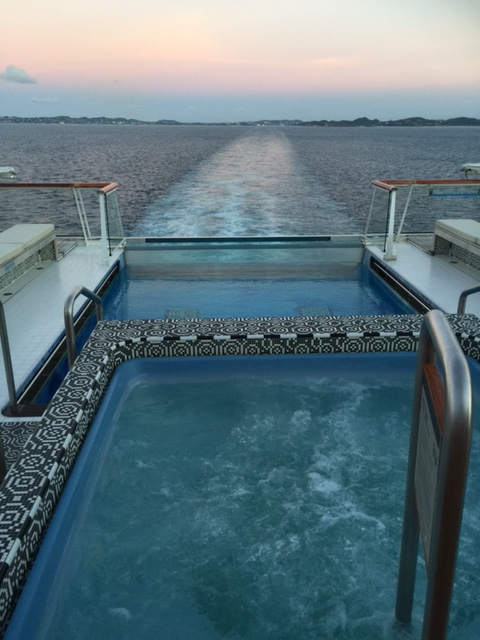 Viking Cruises Viking Star cruise ship aft pool wake view