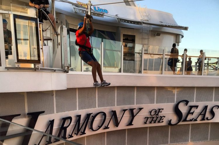 harmony of the seas zip lining