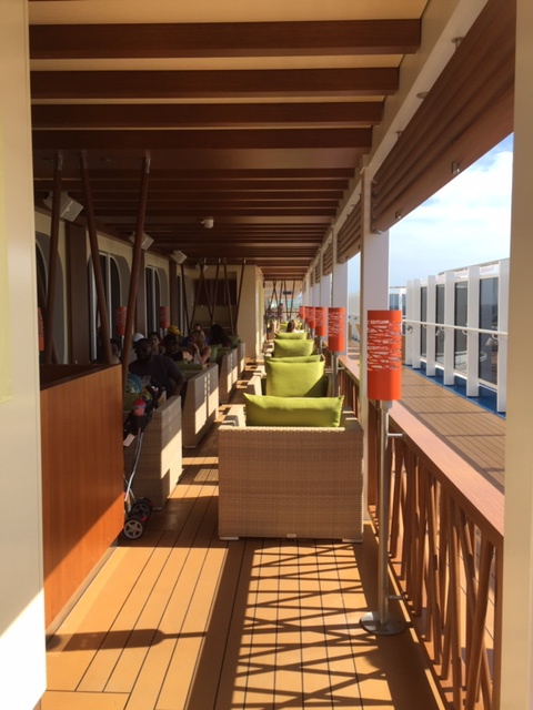 Carnival Cruises Vista cruise ship outdoor dining view