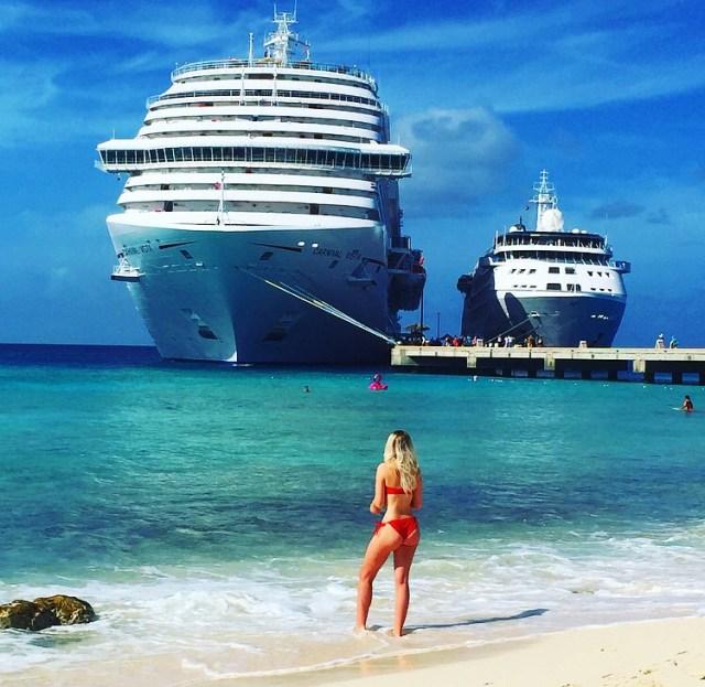 Carnival Cruises Vista cruise ship in Grand Turk