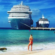Carnival Cruises Vista cruise ship in Grand Turk
