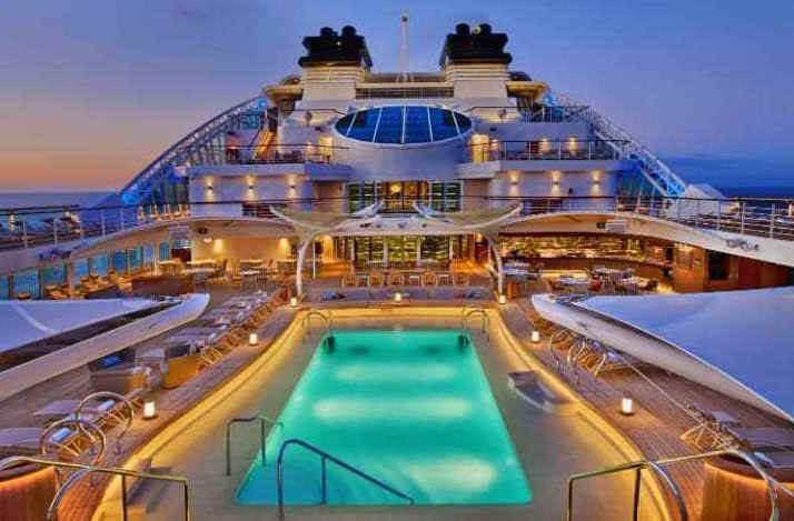 Seabourn Cruises Encore cruise ship features luxury design