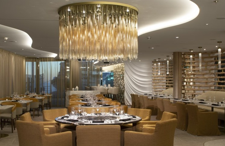 Celebrity cruises edge chandelier