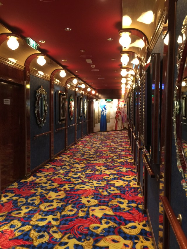 Norwegian cruises Jade cruise ship Norway theatre hallway