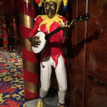 Norwegian cruises Jade cruise ship Norway jester statue