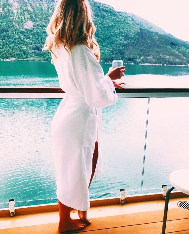 Norwegian cruises Jade cruise ship Norway balcony cabin view