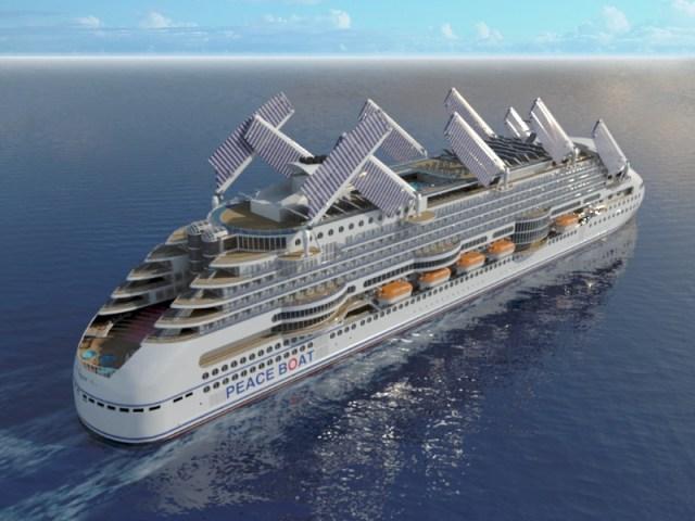 Peaceboat Ecoship cruises sails