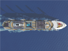 Peaceboat Ecoship cruises top view