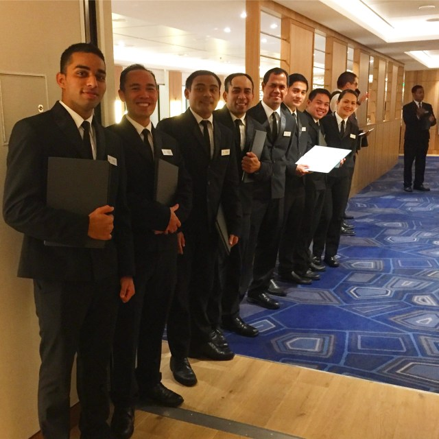 Viking cruises sky cruise ship waiters