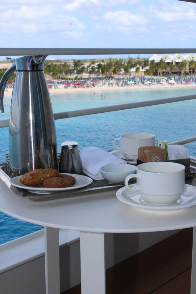 Silversea cruises silver muse cruise ship balcony tea