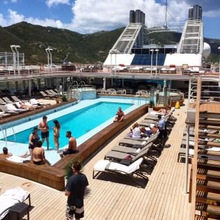 Silversea cruises silver muse cruise ship pool