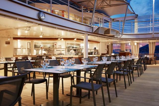 Silversea cruises silver muse cruise ship outdoor dining
