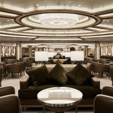 Silversea cruises silver muse cruise ship lobby reception
