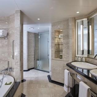 Silversea cruises silver muse cruise ship suite bathroom