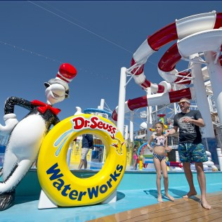 Carnival cruises Horizon cruise ship dr. seuss waterworks