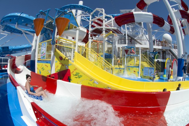 Carnival cruises Horizon cruise ship waterslide splash