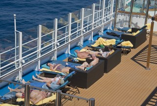 Carnival cruises Horizon cruise ship serenity loungers
