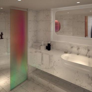 Virgin Voyages peek a boo shower