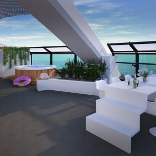 Virgin Voyages suite terrace