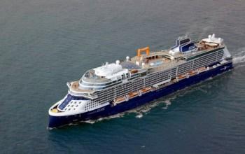 Celebrity Cruises Edge Cruise Ship aerial view