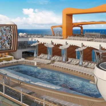 Celebrity cruises edge cruise ship mid pool