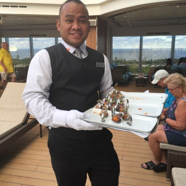 Holland America Statendam cruise ship pool waiter