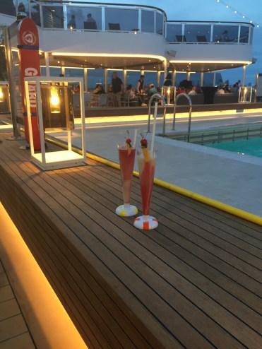 Holland America Statendam cruise ship aft swimming pool lantern