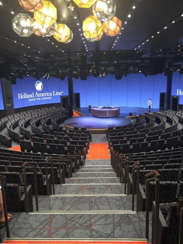 Holland America Statendam cruise ship circular stage