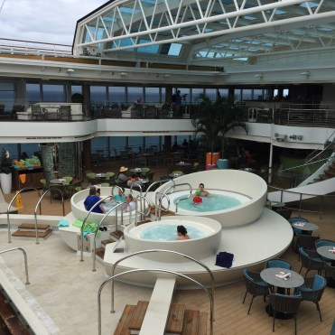 Holland America Statendam cruise ship retractable dome and hot tubs
