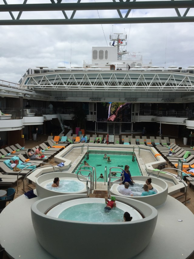 Holland America Statendam cruise ship mid ship swimming pool retractable dome