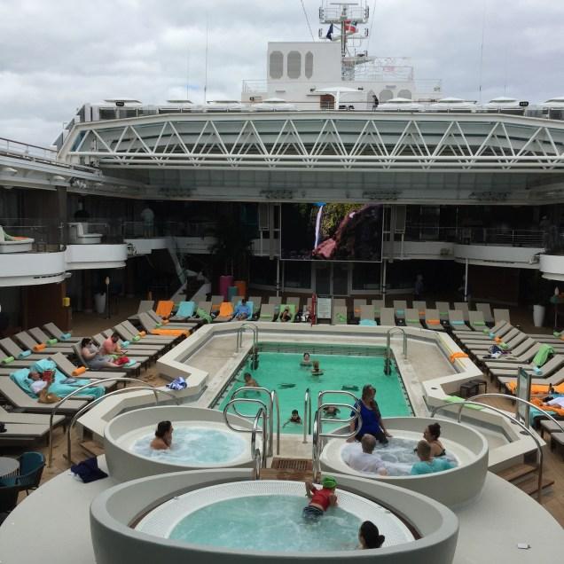 Holland America Statendam cruise ship mid ship swimming pool retractable dome