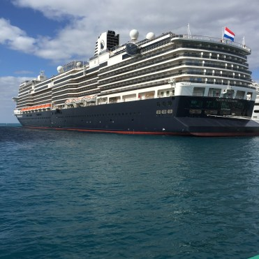 Holland America Cruises Statendam cruise ship aft in Nassau Bahamas