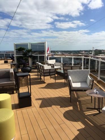 Holland America Statendam cruise ship aft deck lounge area