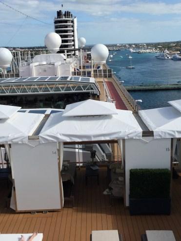 Holland America Statendam cruise ship view from cabana retreat area