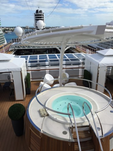 Holland America Statendam cruise ship retreat area hot tubs