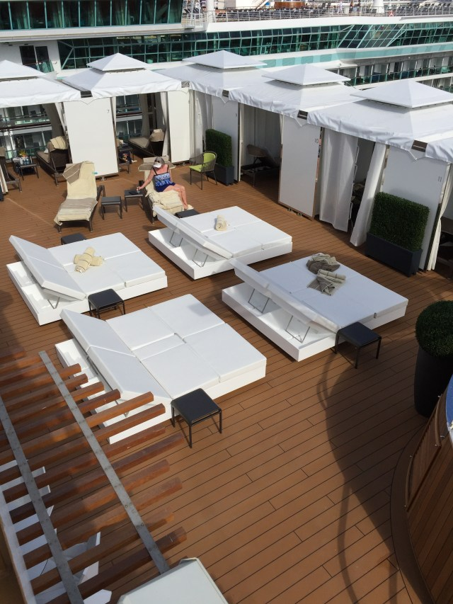 Holland America Statendam cruise ship retreat area loungers