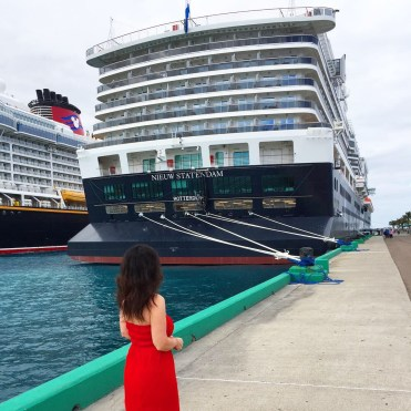 Holland America Cruises Statendam docked in Nassau Bahamas