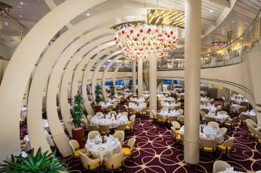 Holland America Statendam cruise ship dining room