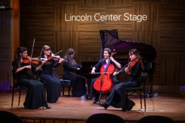 Holland America Statendam cruise ship Lincoln Centre stage classical musicians