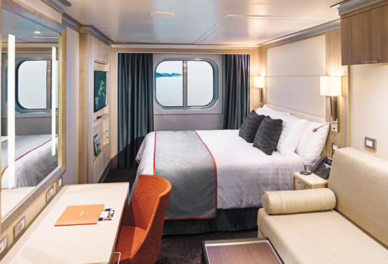 Holland America Statendam cruise ship ocean view cabin